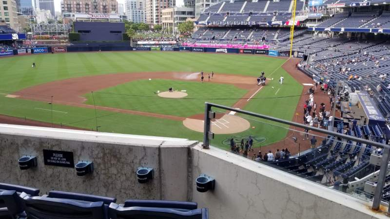 Seating view for Petco Park Section 202 Row 3 Seat 8