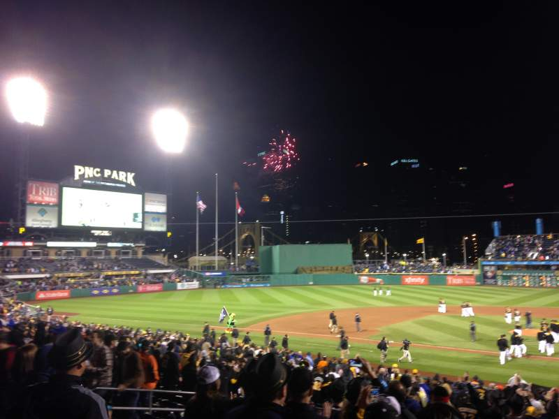 Seating view for PNC Park Section 120 Row U Seat 1