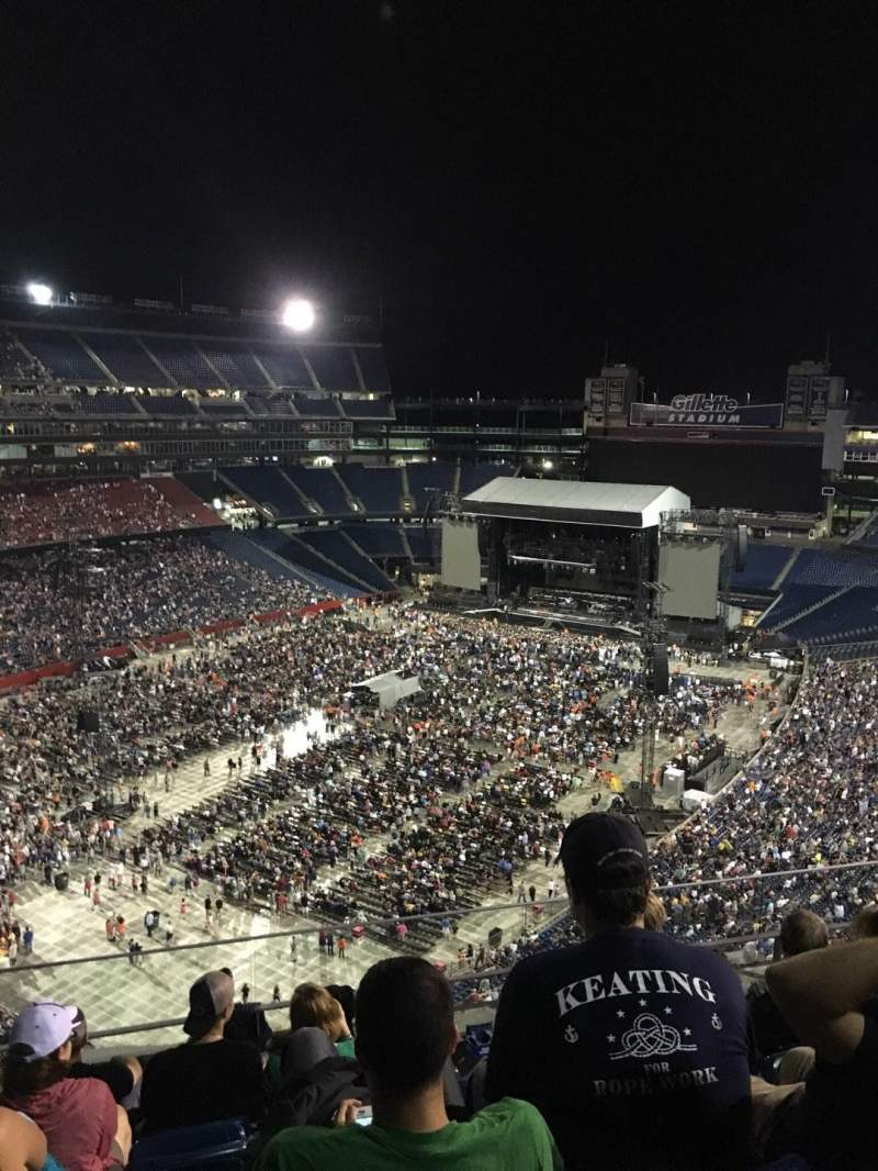 Seating view for Gillette Stadium Section 340 Row 21