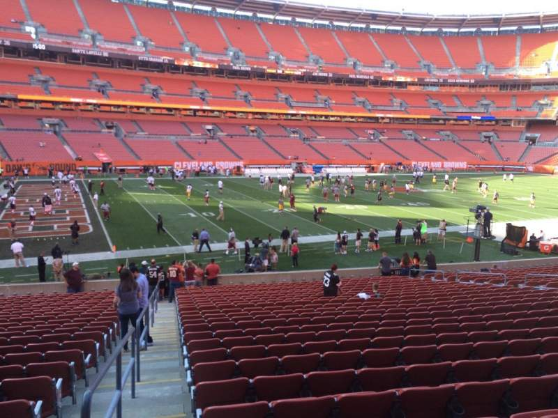 Seating view for FirstEnergy Stadium Section 116 Row 24