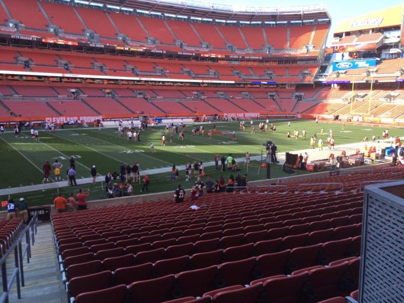 Seating view for FirstEnergy Stadium Section 105 Row 23WC Seat 1