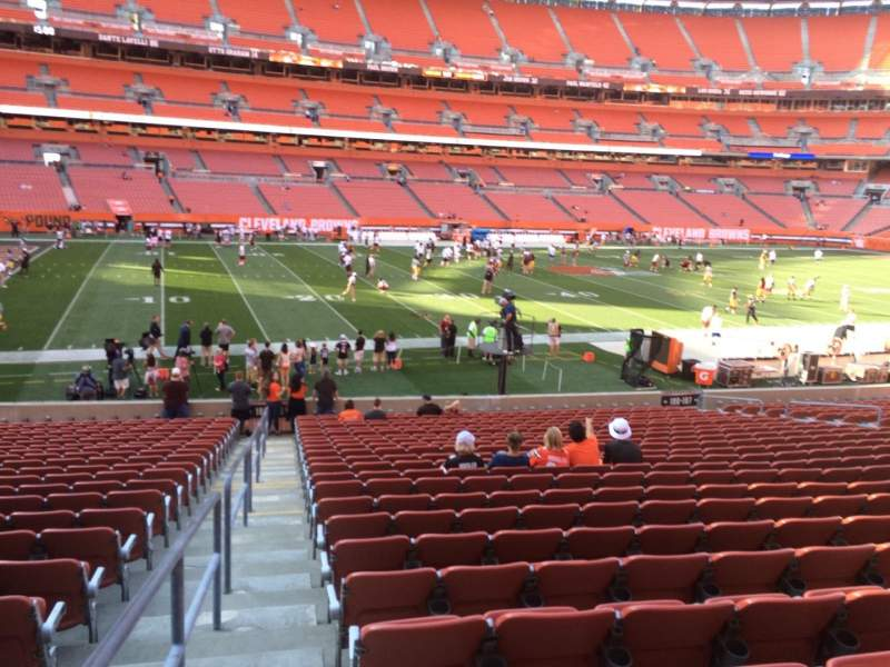 Seating view for FirstEnergy Stadium Section 106 Row 22 Seat 1