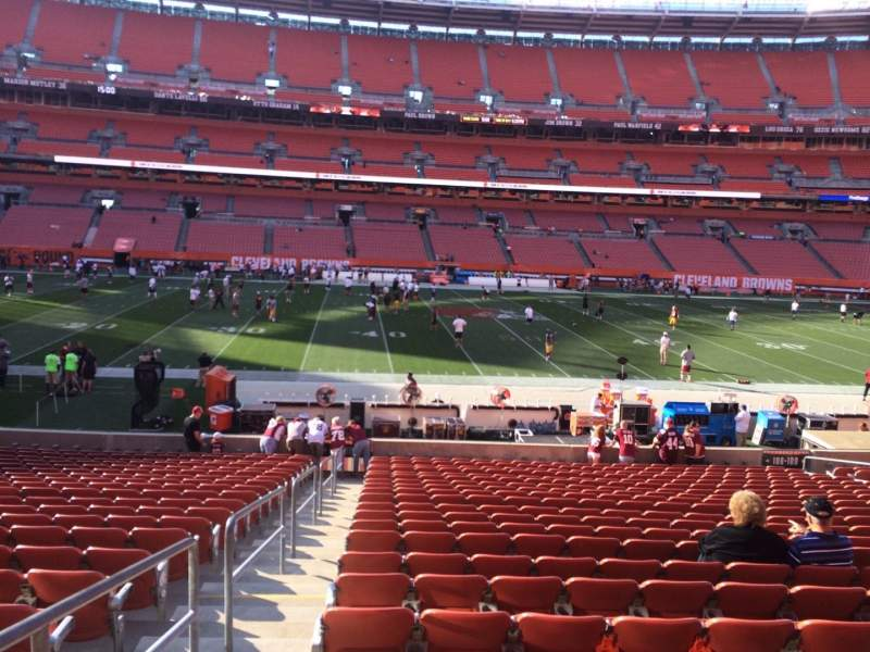 Seating view for FirstEnergy Stadium Section 108 Row 22 Seat 1