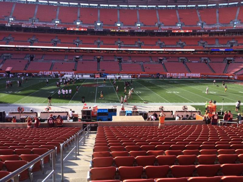 Seating view for FirstEnergy Stadium Section 109 Row 22 Seat 1