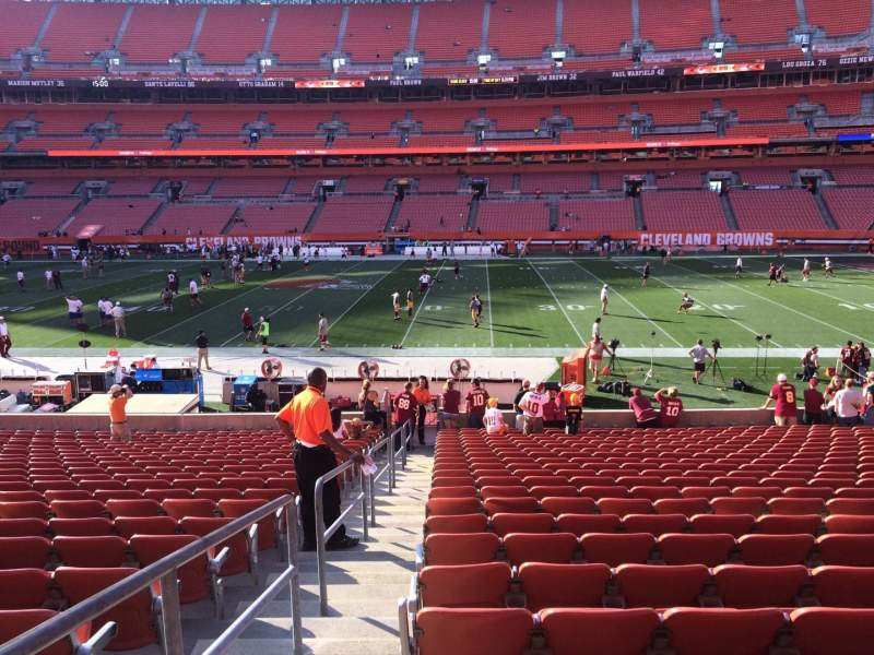 Seating view for FirstEnergy Stadium Section 110 Row 23 Seat 1