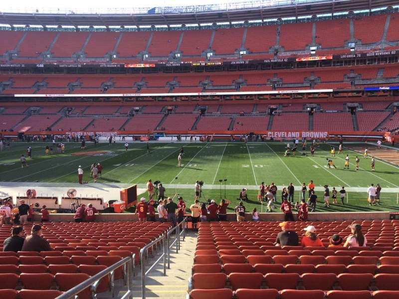Seating view for FirstEnergy Stadium Section 111 Row 22 Seat 1
