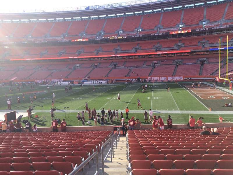 Seating view for FirstEnergy Stadium Section 112 Row 22 Seat 1