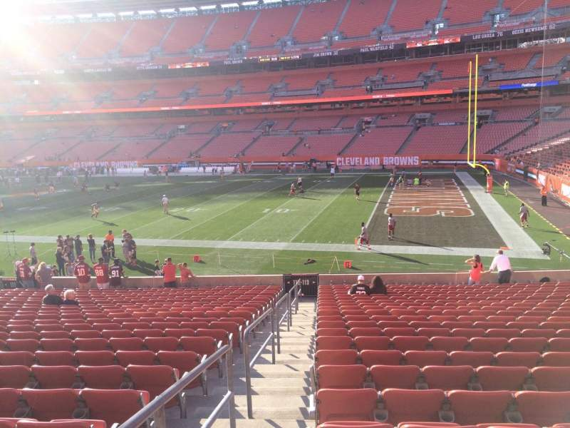 Seating view for FirstEnergy Stadium Section 113 Row 22 Seat 1