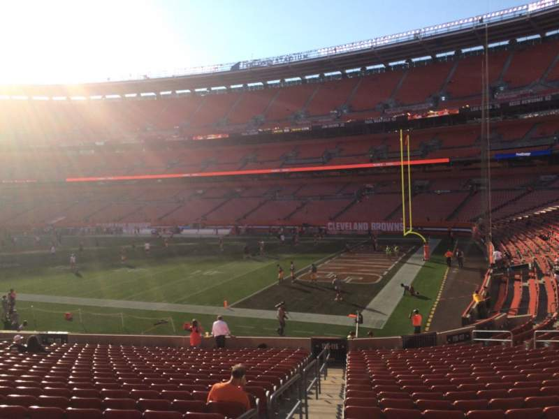 Seating view for FirstEnergy Stadium Section 115 Row 22 Seat 1