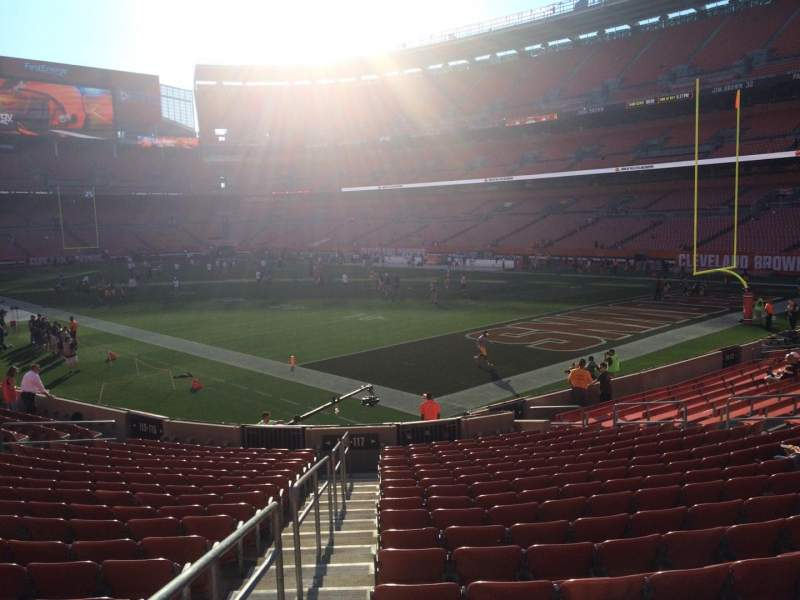 Seating view for FirstEnergy Stadium Section 117 Row 18 Seat 1