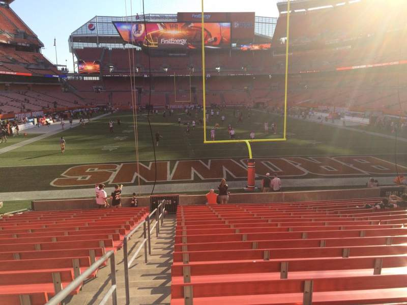 Seating view for FirstEnergy Stadium Section 120 Row 18 Seat 1