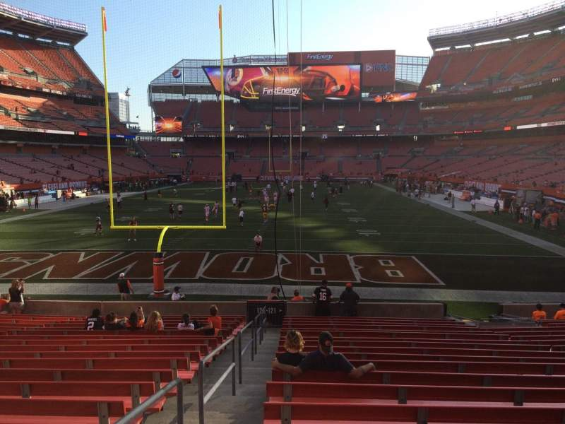 Seating view for FirstEnergy Stadium Section 121 Row 18 Seat 1