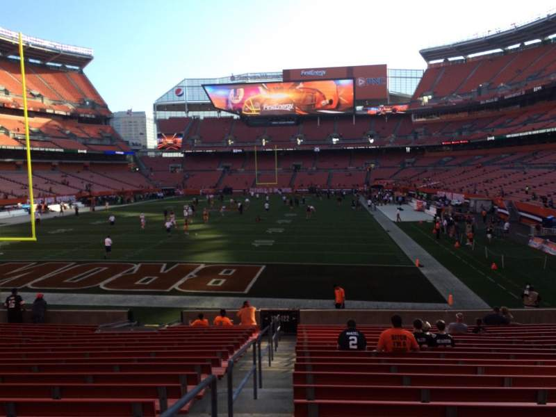 Seating view for FirstEnergy Stadium Section 122 Row 18 Seat 1