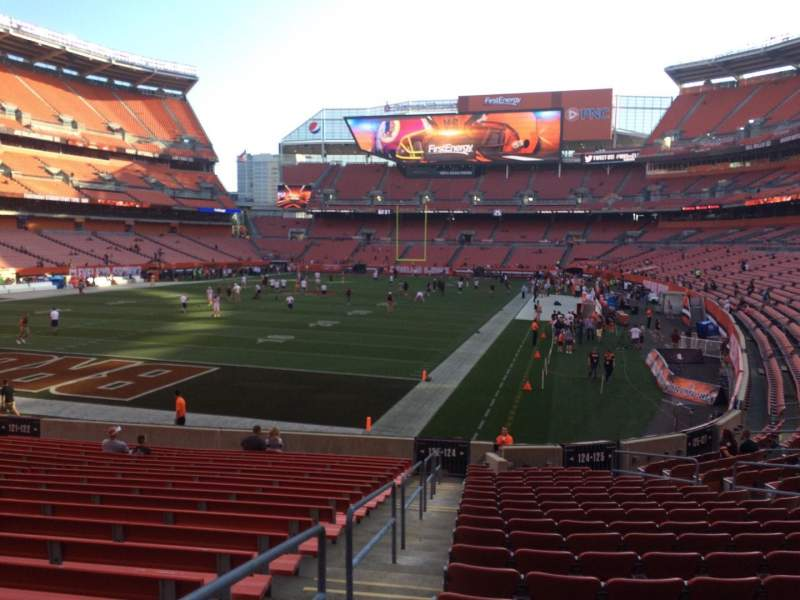 Seating view for FirstEnergy Stadium Section 124 Row WC Seat 1