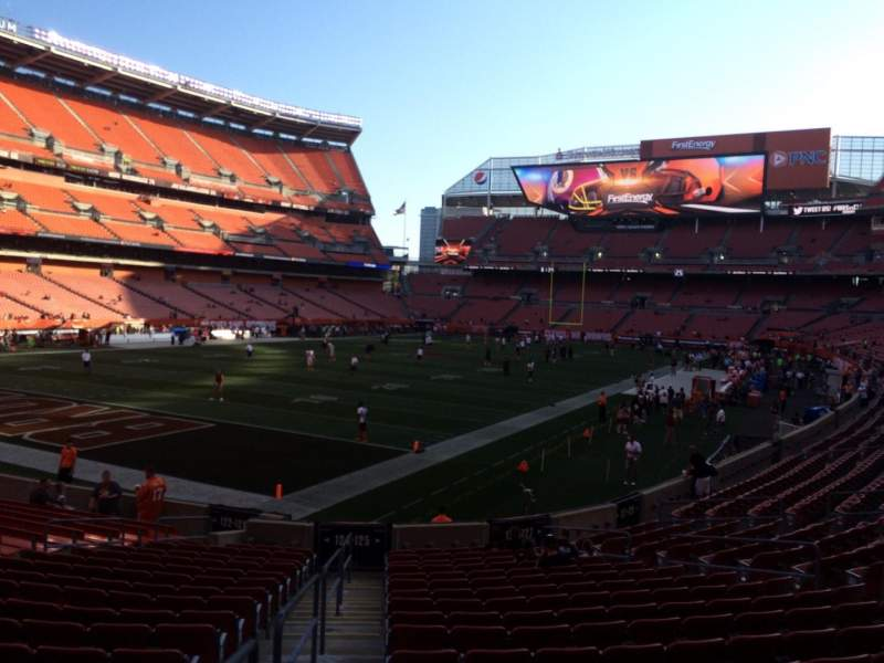 Seating view for FirstEnergy Stadium Section 125 Row 18