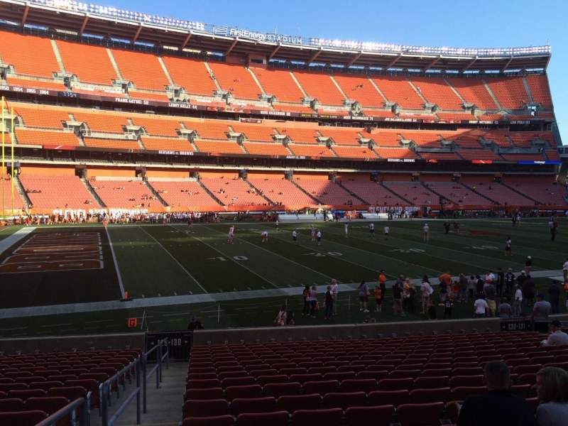 Seating view for FirstEnergy Stadium Section 130 Row 18 Seat 1