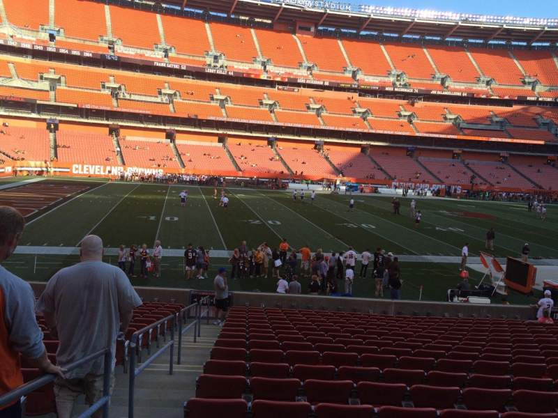 Seating view for FirstEnergy Stadium Section 131 Row 18 Seat 1