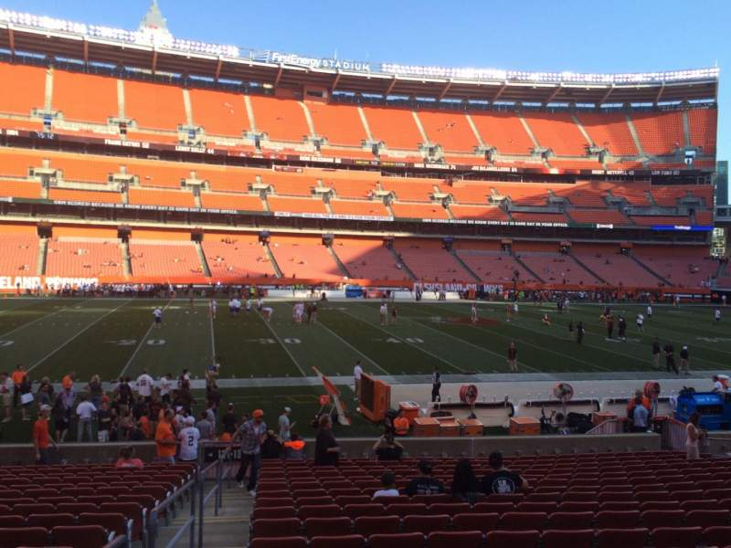 Seating view for FirstEnergy Stadium Section 132 Row 18 Seat 1