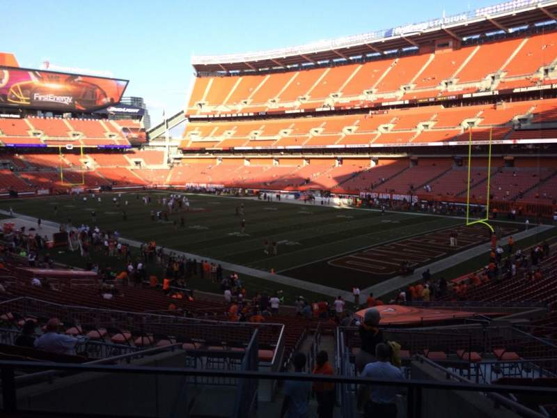 Seating view for FirstEnergy Stadium Section 141 Row 32 Seat 1