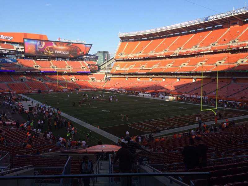 Seating view for FirstEnergy Stadium Section 144 Row 32 Seat 1