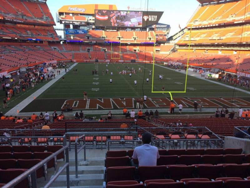 Seating view for FirstEnergy Stadium Section 146 Row 30 Seat 1
