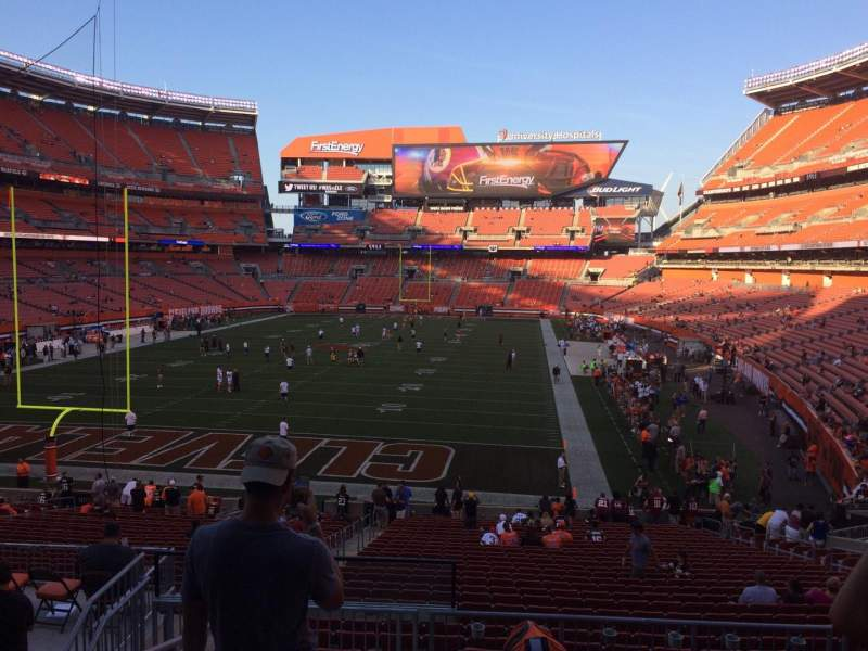 Seating view for FirstEnergy Stadium Section 149 Row 30 Seat 1