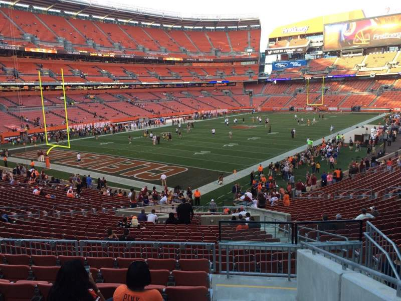 Seating view for FirstEnergy Stadium Section 101 Row 30 Seat 26