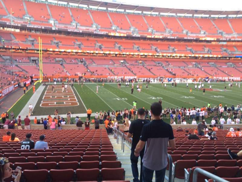Seating view for FirstEnergy Stadium Section 105 Row 25 Seat 23