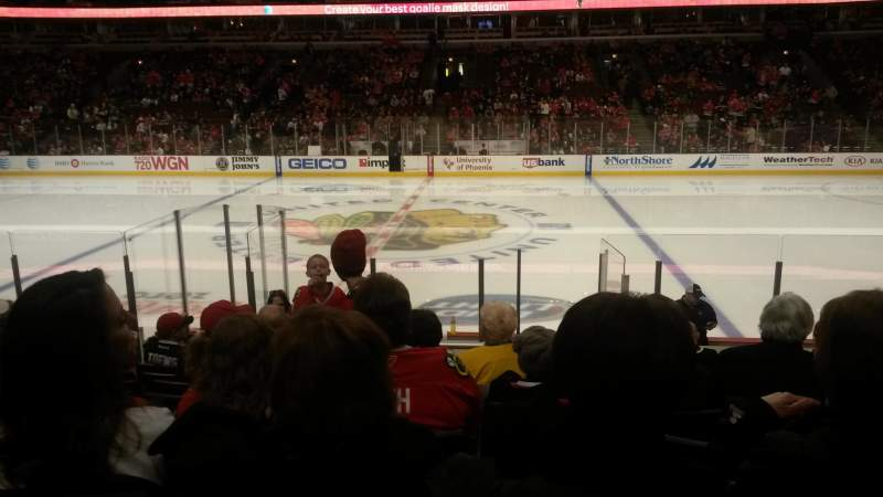 Seating view for United Center Section 122 Row 12 Seat 11