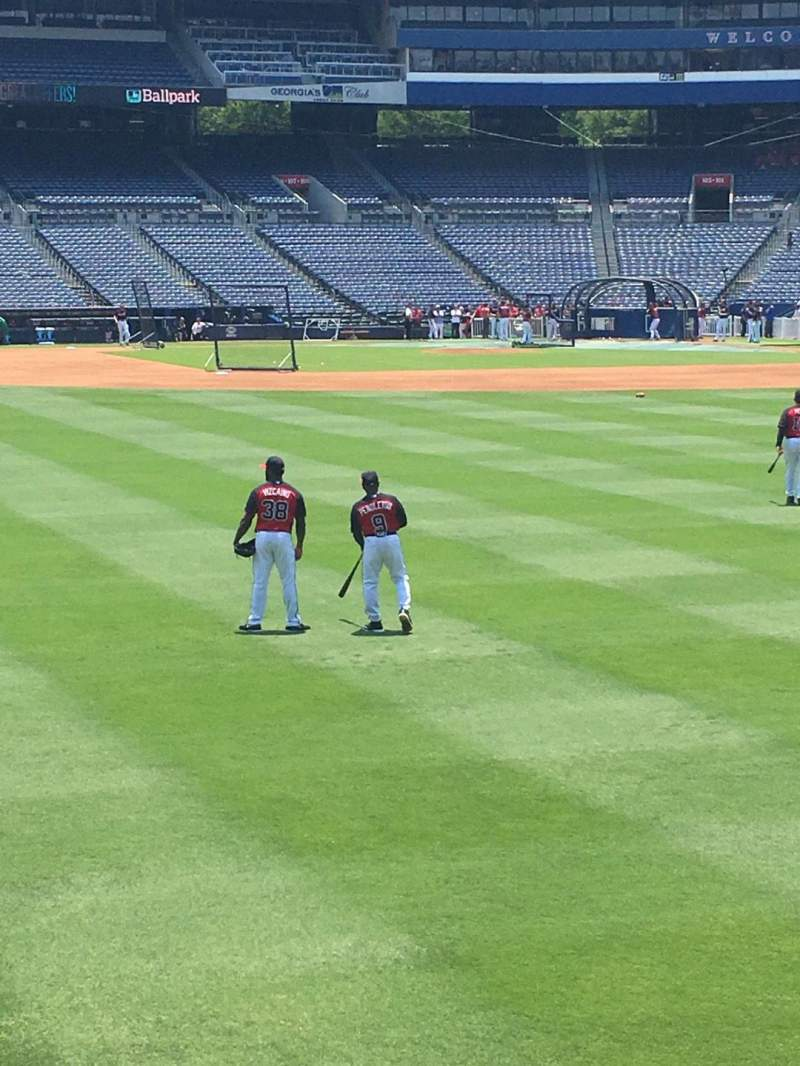 Seating view for Turner Field Section 142 Row 14 Seat 108