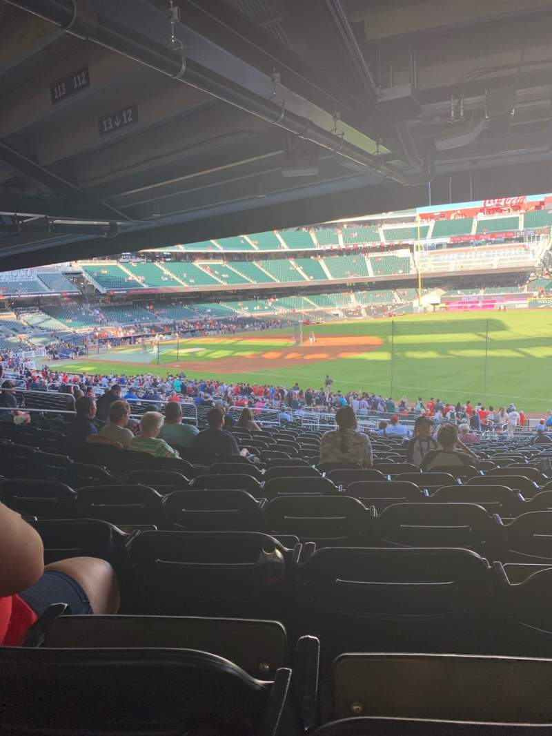 Seating view for Truist Park Section 112 Row 20 Seat 13
