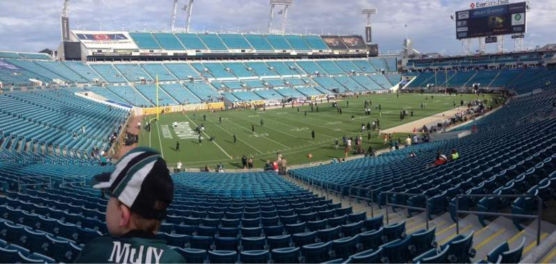 Seating view for Everbank Field Section 218 Row A Seat 1