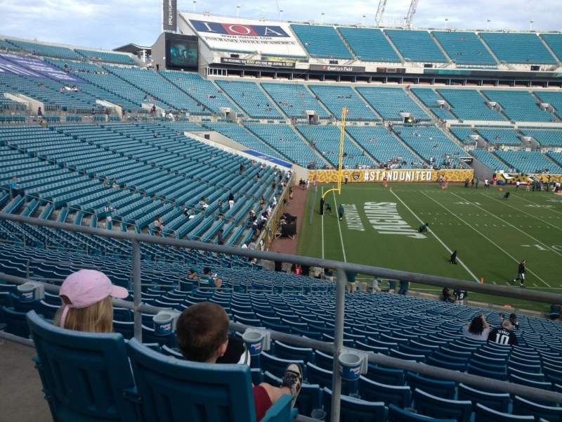 Seating view for Everbank Field Section 215 Row A Seat 1