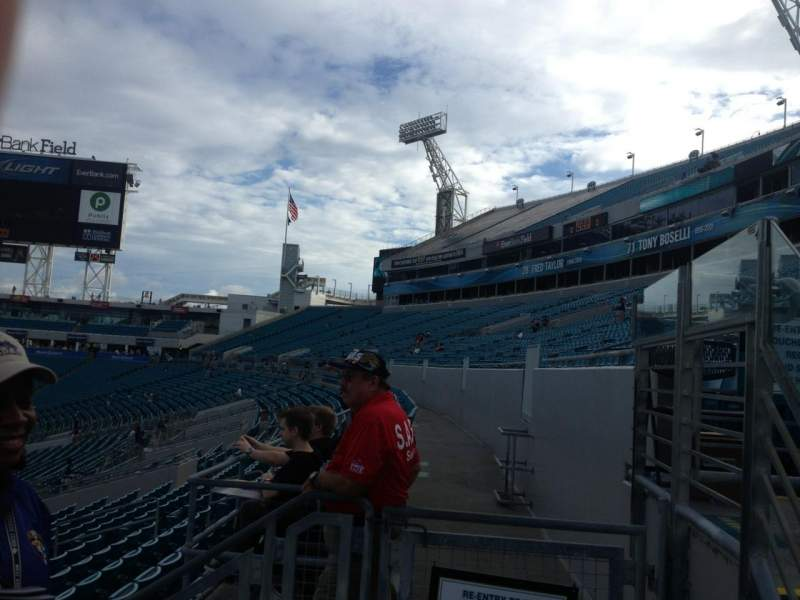 Seating view for Everbank Field Section 113 Row G Seat 4