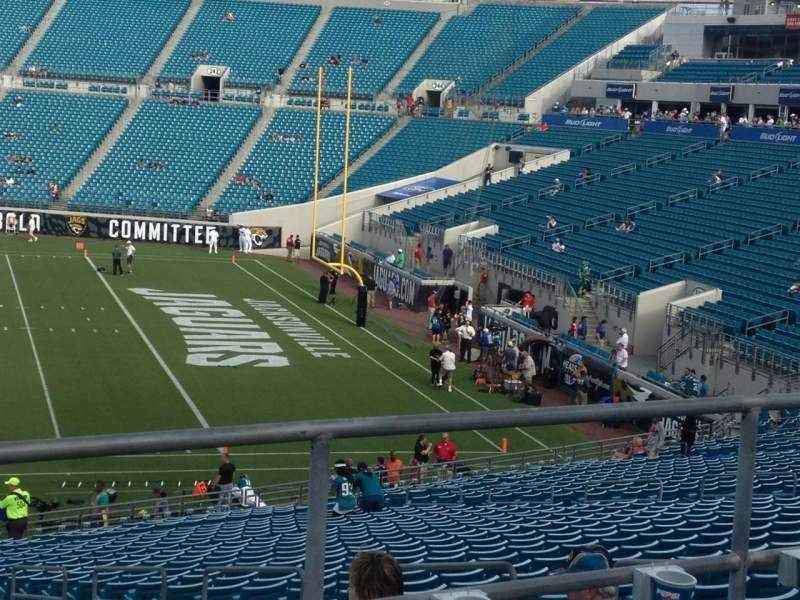 Seating view for Everbank Field Section 113 Row G Seat 1