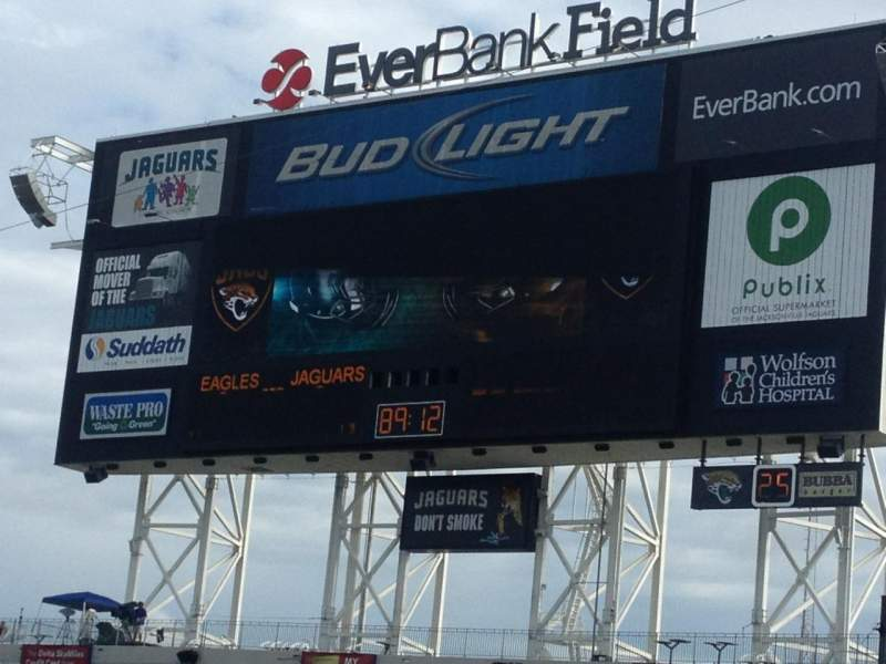 Seating view for Everbank Field Section 113 Row G Seat 15