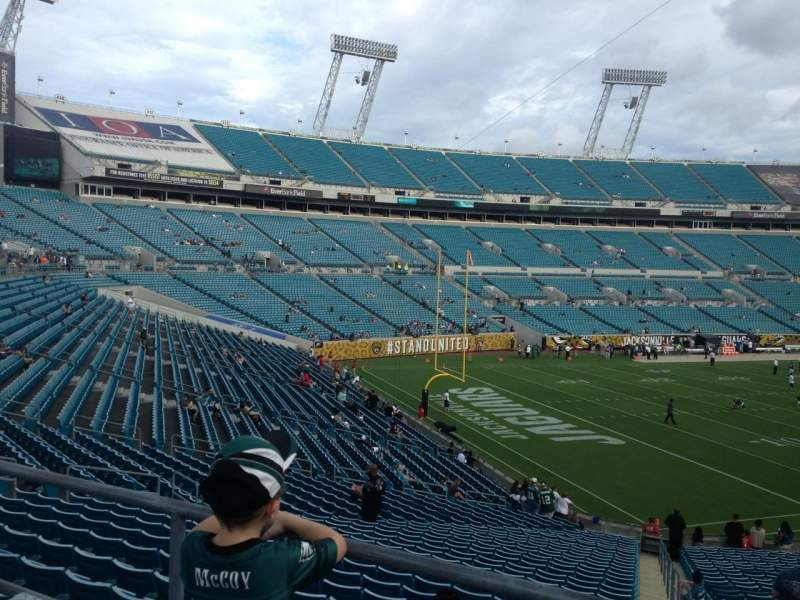 Seating view for Everbank Field Section 217 Row A Seat 1