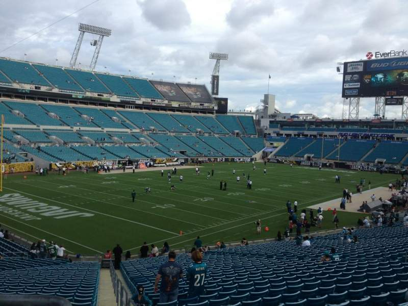 Seating view for Everbank Field Section 217 Row A Seat 3