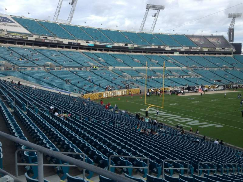 Seating view for Everbank Field Section 219 Row A Seat 1