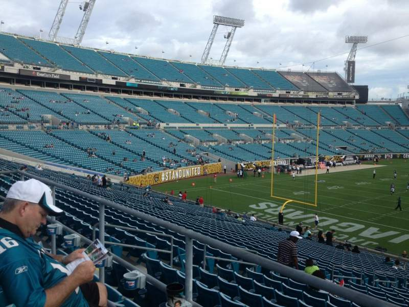 Seating view for Everbank Field Section 221 Row A Seat 1