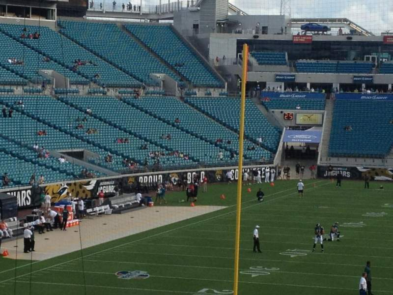 Seating view for Everbank Field Section 223 Row A Seat 1