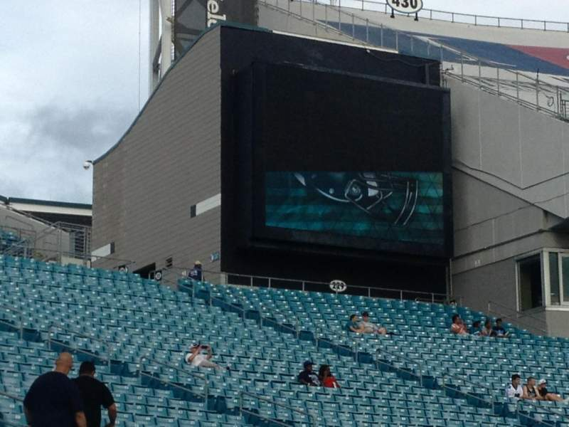 Seating view for Everbank Field Section 124 Row A Seat 4