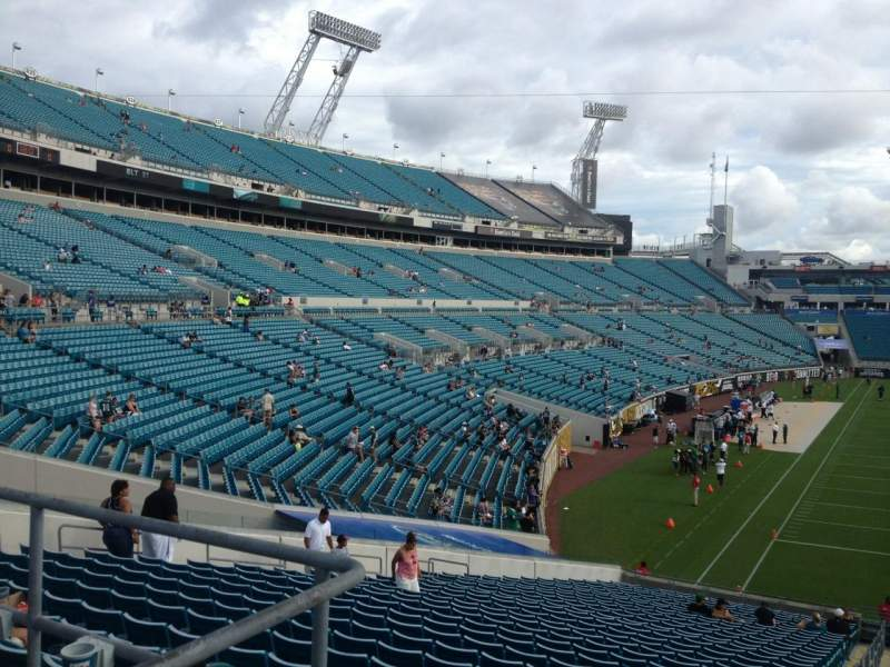 Seating view for Everbank Field Section 124 Row A Seat 7