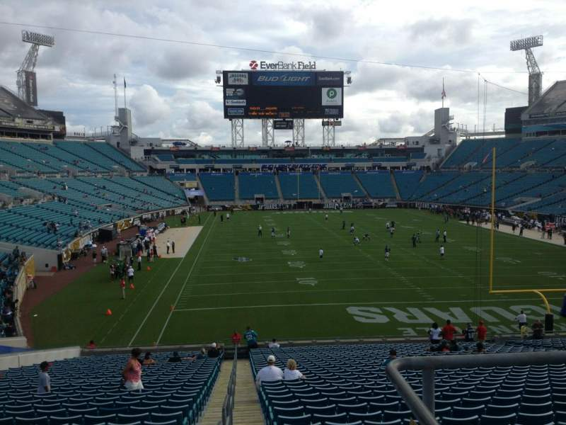 Seating view for Everbank Field Section 225 Row A Seat 1