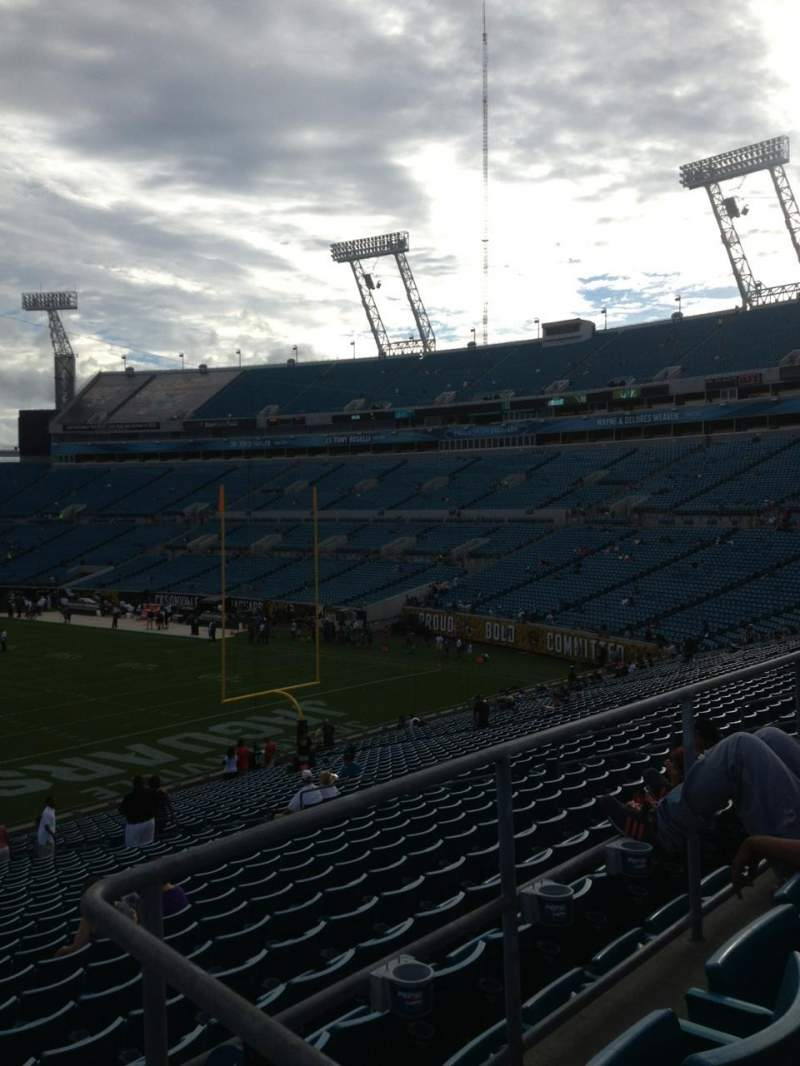 Seating view for Everbank Field Section 227 Row A Seat 1