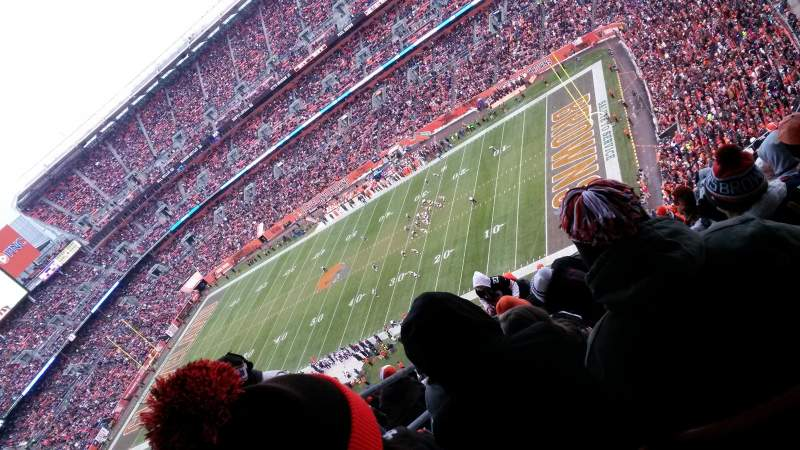 Seating view for FirstEnergy stadium Section 514 Row 28 Seat 3