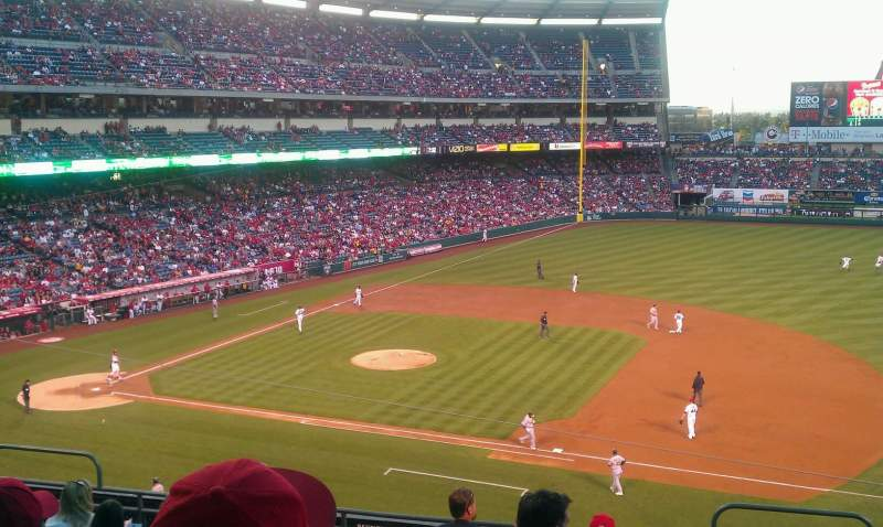 Seating view for Angel Stadium Section c336 Row h Seat 9