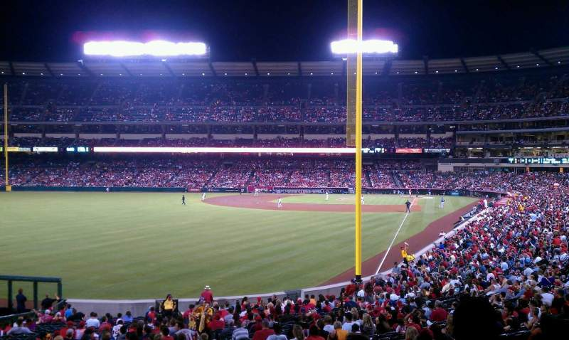 Seating view for Angel Stadium Section 201 Row F Seat 19