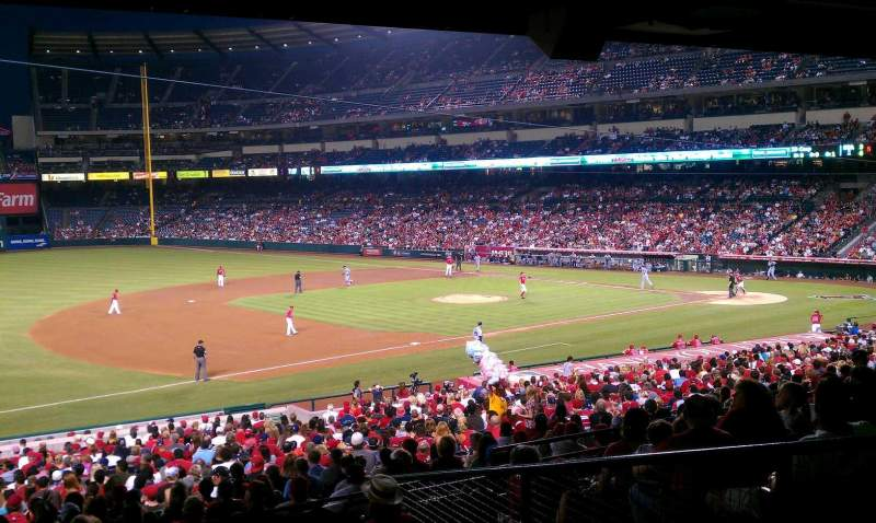 Seating view for Angel Stadium Section 209 Row j Seat 1