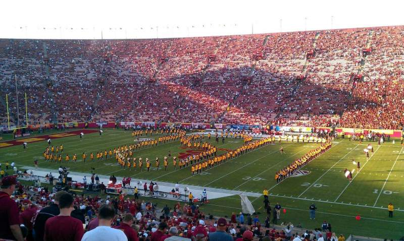 Seating view for Los Angeles Memorial Coliseum Section 5H Row 45 Seat 106